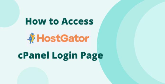 hostgator cpanel login page access